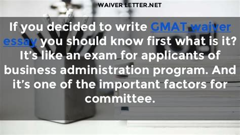 Harvard Mba Gmat Waiver by Letter Of Waiver How To Write It Correctly