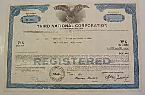 American Sweepstakes Publishers Phone Number - third national corporation stock certificate scripophily at a date in time