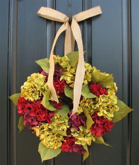 Autumn Wreaths Front Door Fall Wreath Autumn Hydrangeas Front Door Wreaths Decor Ok