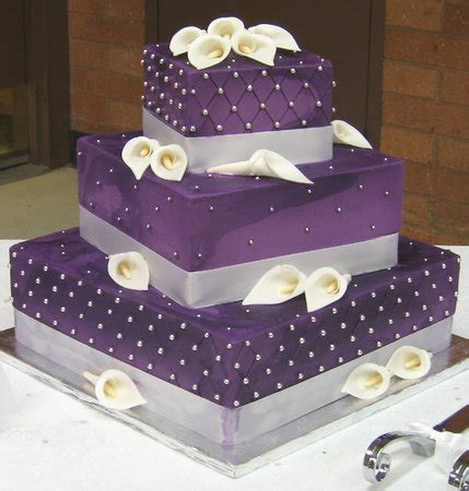 Wedding Cake Purple by Wedding Cakes Pictures Square Purple Wedding Cakes