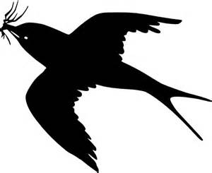 Flying Blackbird Outline by Flying Bird Clip At Clker Vector Clip Royalty Free Domain