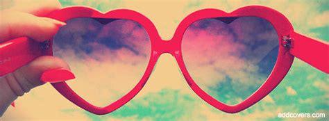 stylish heart facebook timeline cover glasses facebook covers 2014 sunglasses facebook