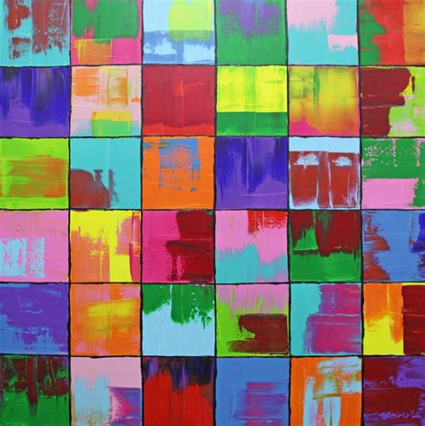 bilder modern bild gem 228 lde bunt abstrakt malerei michael