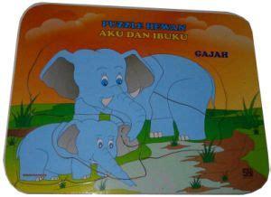 puzzle stiker seri aku dan ibuku gajah tara edutoys