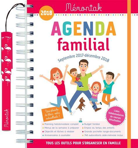 Calendrier 2018 Fnac Livre Agenda Familial M 233 Moniak 2017 2018 Nesk Editions
