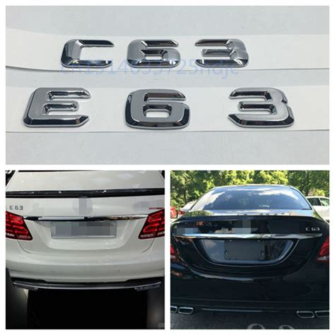 Emblem 24 Ori 1pc Superauto 2 car styling for mercedes e63 c63 c63 emblem rear trunk number letter letter badge sticker for