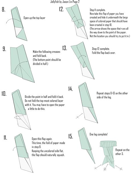 origami jellyfish step by step diagrams lin海聞