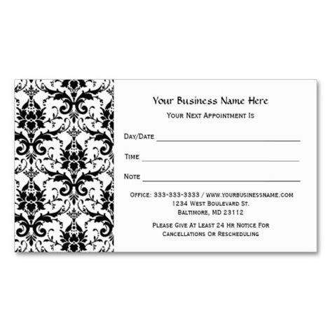 Salon Appointment Card Template by 124 Best Salon Business Cards Images On