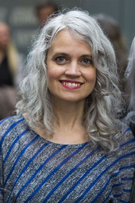 grey hair in 40 s celebrating women with long grey hair