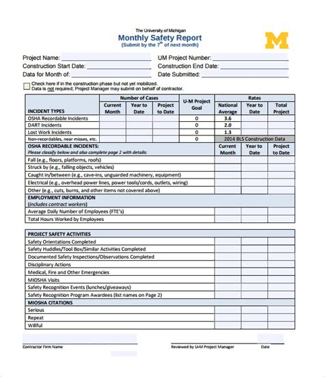 template for monthly report monthly report 18 documents in pdf