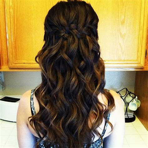 soft waves hairstyles for prom waterfall braid with big loose curls bree lathrop bree