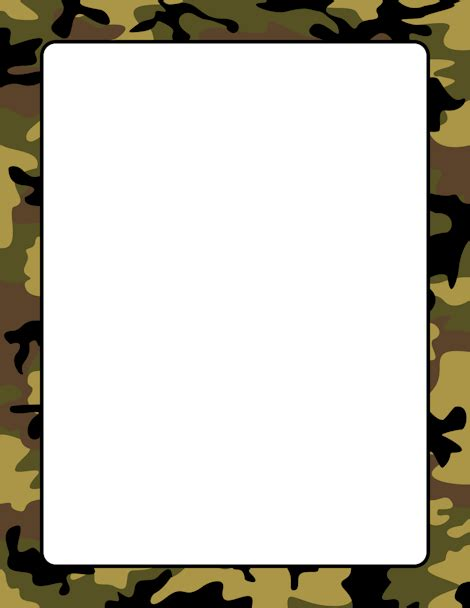 army pattern border army clipart borders pencil and in color army clipart