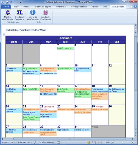 Calendario Outlook Importar Outlook Calendar Para Excel E Word