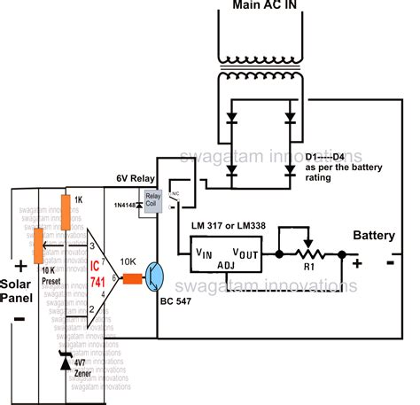 automatic voltage regulator circuit diagram