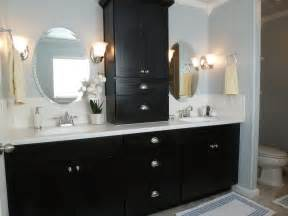 black bathroom cabinet ideas home tour source list tell er all about it