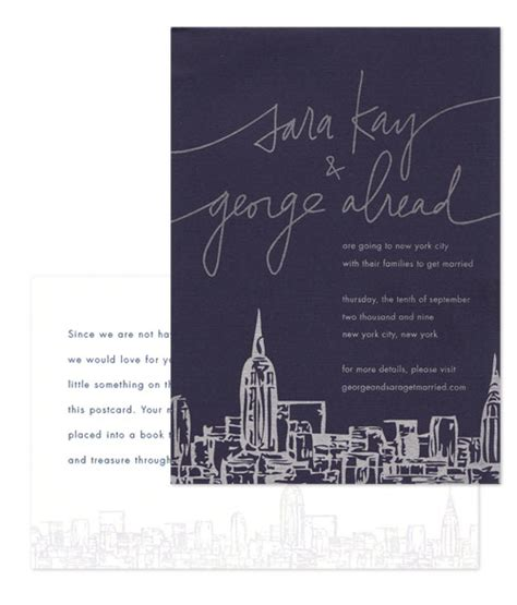 nyc destination wedding invitations elopement in nyc altmix photography