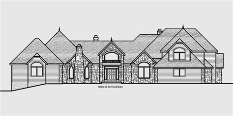 drawing of a house with garage luxury house plans master on the main house plans 10080