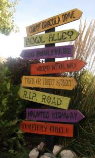 Halloween Decorations Signs Burton Avenue Halloween Road Sign