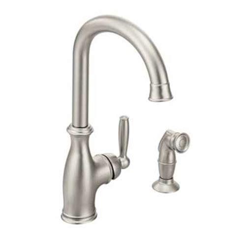 brantford kitchen faucet moen 7735srs brantford single handle kitchen faucet spot resist stainless faucetdepot