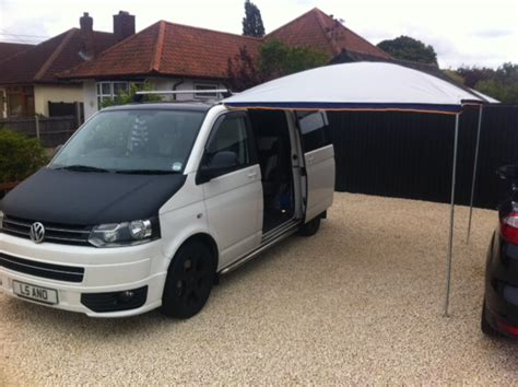 vw awning vw t5 bolt on awning rail for roof rack cer essentials