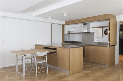 expandable kitchen island renovated flat in makes the most of convertible furniture