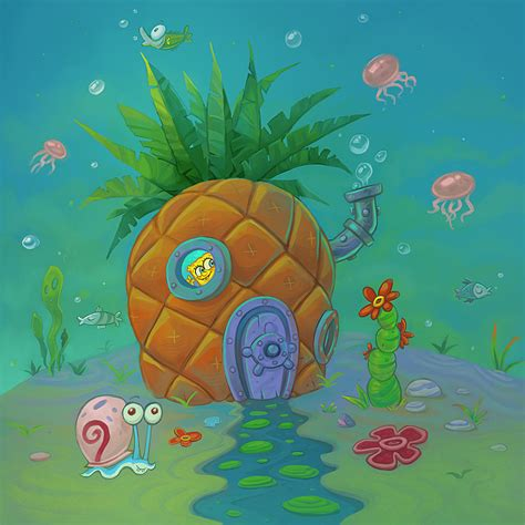 pineapple house the gallery for gt how to draw spongebobs pineapple house