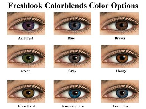 color contact lens review freshlook colorblends contact lens