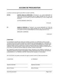 Lettre De Procuration Entreprise Accord De Procuration Template Sle Form Biztree