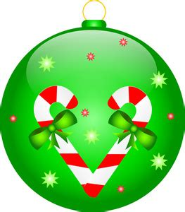 ornament clipart image green christmas ornament