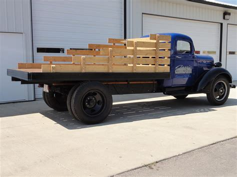 wooden pickup truck 1937 chevrolet 1 1 2 ton flatbed truck 113068