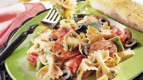 italian pasta salad with tomato mayonnaise recipe from