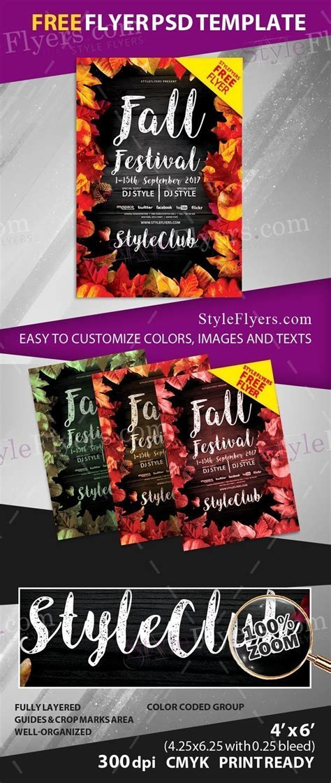 Fall Festival Free Psd Flyer Template Free Download 20733 Styleflyers Free Caign Flyer Template