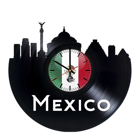Handmade Clock - mexico handmade vinyl record wall clock fan gift vinyl