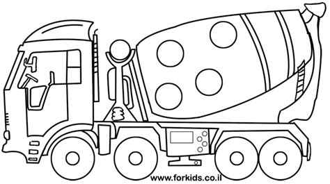 coloring pages cement truck concrete truck coloring page www forkids co il coloring