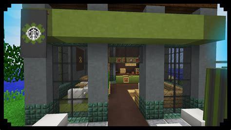 Minecraft Interior Design by Minecraft How To Make A Starbucks Youtube