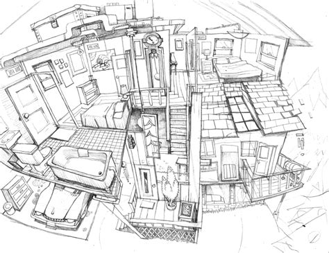 house interior sketch house interior pencil sketch by pesthdelinz on deviantart