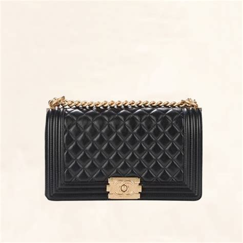 Chanel Boy Lambskin Include Box With Palladium Gold Hardware Premium chanel quilted lambskin boy flap bag medium the collectory