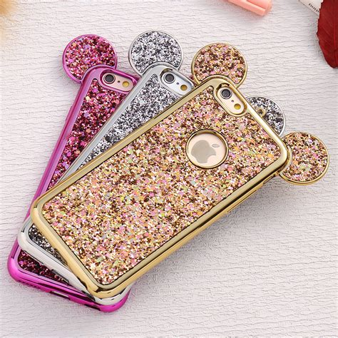 Ap Mickey 3d Glittery High Quality Softcase Iphone 4 5 6 6 Grand high quality wholesale mickey mouse ears from china mickey