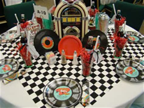 50 s table decorations 50s theme table setting www tablescapesbydesign https www pages tablescapes
