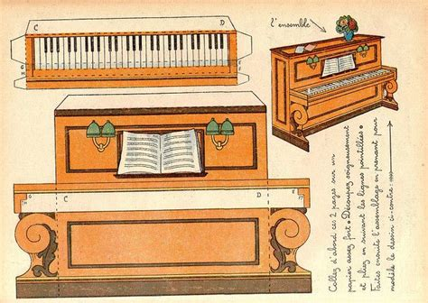 Piano Papercraft - 17 best images about paper cut out doll house furniture on