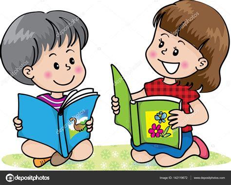 imagenes de niños jugando y leyendo ni 241 os leyendo vector de stock 169 wenpei 142119672
