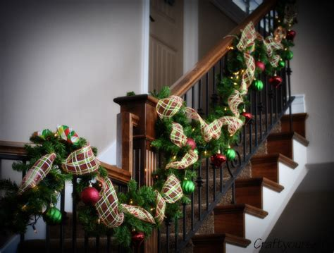 stunning stairs garland decoration 10 photos lentine