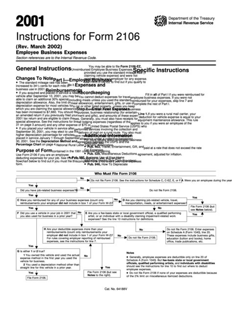 form 2106 tax return instructions for form 2106 employee business expenses