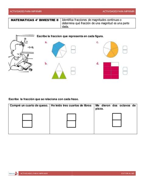 actividades cuarto de primaria actividades para cuarto grado de primaria para imprimir