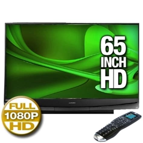 Wd 65735 L by Mitsubishi Wd 65735 65 Dlp Hdtv With Logitech Harmony One Remote At Tigerdirect