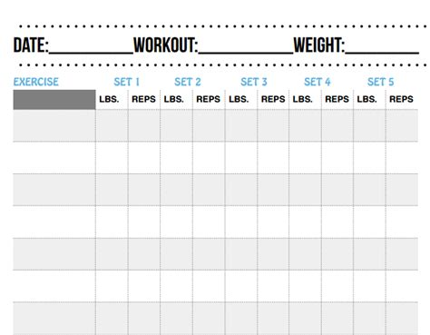 printable workout sheets best free printable workout logs silicone wedding band