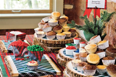 100 fresh christmas decorating ideas southern living decorate your own cupcake station 100 fresh christmas
