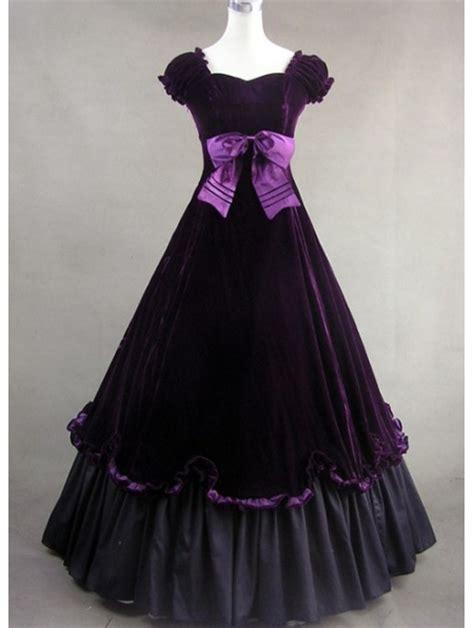 purple classic gothic victorian dress devilnightcouk