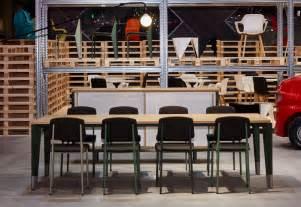 designboom milan design week 2015 schemata s temporary warehouse showcases vitra furniture