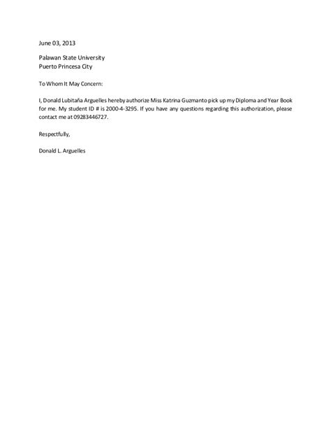 authorization letter request sle authorization letter to request diploma 28 images